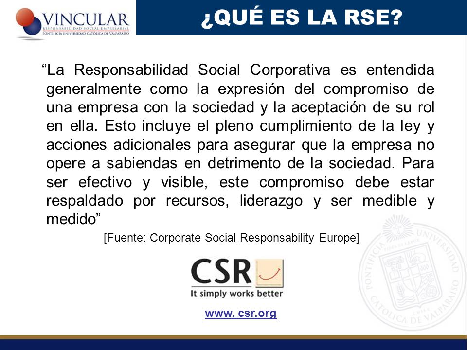 [Fuente: Corporate Social Responsability Europe]